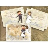"""Дизайн """"Младоженци Брауни"""" в Комплект :: Сватбени Магнити №01-2"""