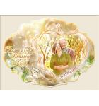 Сватбена тема, цвят праскова :: Магнити, сватбени подаръци № 01-3