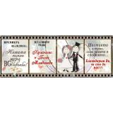 Магнити Кинолента с Карикатура и Послание #01-8
