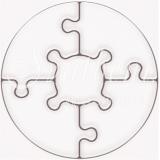 Магнитни пъзели :: Кръг 5 части - без дизайн, само с Вашата снимка! #03-6