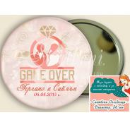 "Дизайн ""Game Over"" :: Сватбени Огледалца #07-8"