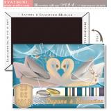 Изящни Лебеди:: Подаръчета за гостите, магнити #02-6