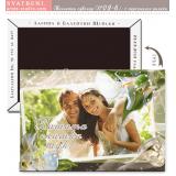 """Дизайн """"Бели калии"""":: Подаръчета за гостите, магнити #02-7"""
