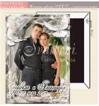 Тема на сватбата Бяло и Черно :: Рамка Белите Гълъби, Магнити #02-7