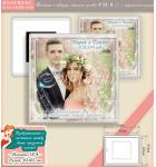 """Сватбени Магнити """"Романс"""" - Акрилна основа и Акцент върху Снимката Ви ::  #18-4"""