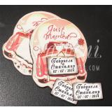 Магнити с Релеф, Табелка - Сватбена Кола :: Подарък за гостите #32-11